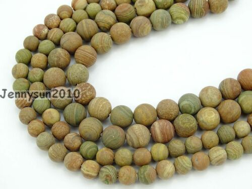 Natural Matte Colorful Stone Gemstone Round Beads 15'' Strand 6mm 8mm 10mm 12mm