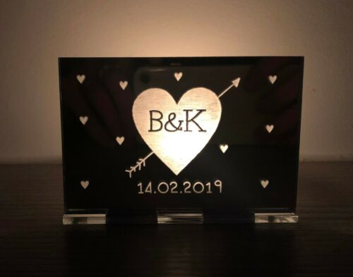 Personalised Gifts For Her Him Anniversary Engagement Wife Candle Holder Gifts