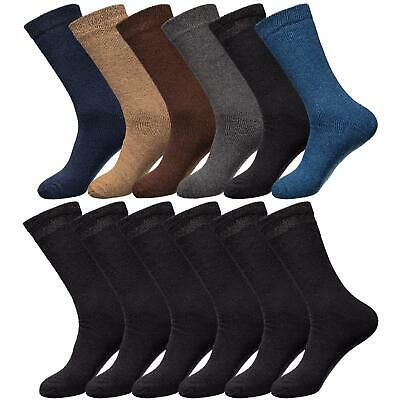Men/'s Thermal Brushed Black Winter Socks Thick Warm Work Boot Socks Size 6-11