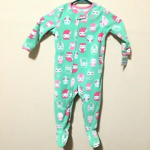 dd66e2dce NWT Child of Mine by Carter s Baby Toddler Girl Owl Footed Sleeper ...
