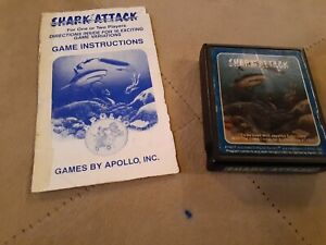 SHARK ATTACK by APOLLO for ATARI 2600 ▪︎ CARTRIDGE and MANUAL ▪︎