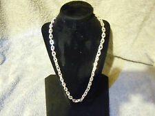 """NEW 22/"""" SET IN SOLID .999 PURE SILVER TIGHT LINK NECKLACE ANARCHY JEWELRY #2"""