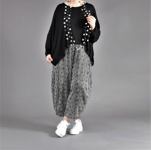 ♦ 6 Farben AKH Fashion warme Bouclé-Ballon-Hose EG 44,46,48,50,52,54 meliert ♦