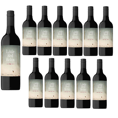 RRP$189! Little Red Robin Merlot Red Wine (12x750ml) Fast & Free Shipping!