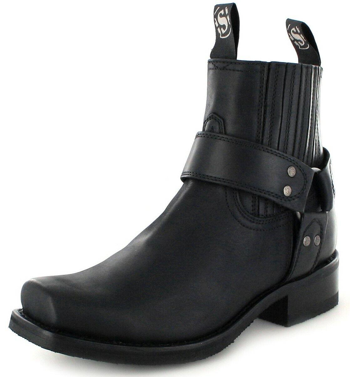 Sendra Boots 8286 Loren black Bikerstiefelette Motorradstiefelette