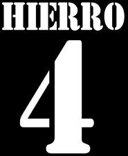 Real Madrid Hierro Nameset Shirt Soccer Number Letter Heat Print Football Away