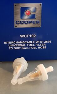 2-X-WCF192-In-line-Fuel-Filters-6mm-hose-for-Mowers-Trimmers-Go-Karts-etc-Z676