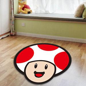 Image is loading Super-Mario-Toad-Cute-Velboa-Floor-Rug-Carpet- & Super Mario Toad Cute Velboa Floor Rug Carpet Room Doormat Non-slip ...