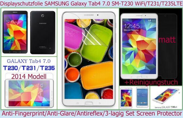 "3 x Antireflex matt Display Schutz Folie Samsung Galaxy Tab 4 7.0"" Kratzfest Set"