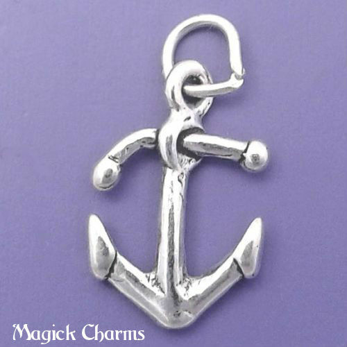Argent Sterling 925 3-D Ancre Charme capitaine marin Pendentif-sc380