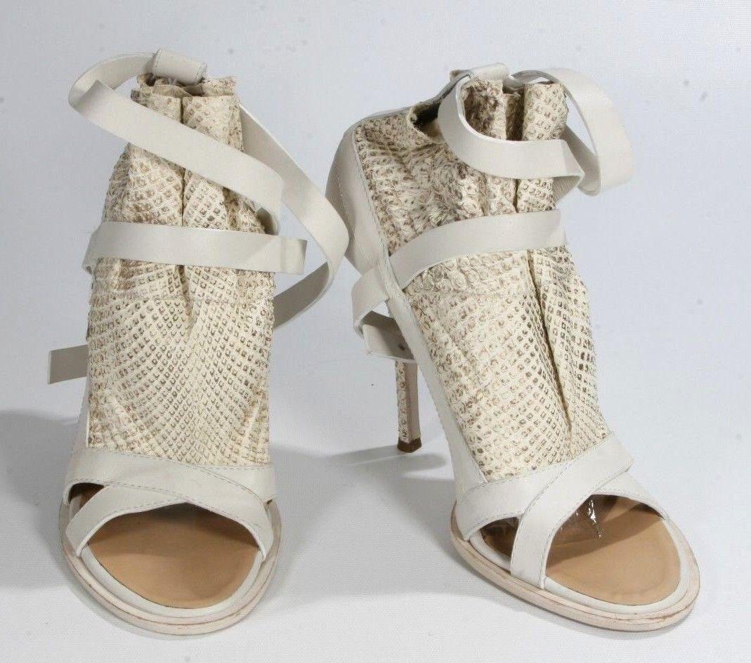 Thakoon bianca Vero Cuoio Stilettos High Heels Open Toe Ankle Strap 39.5