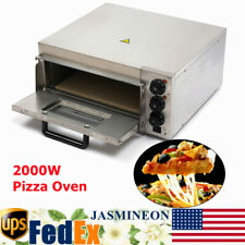 2000w Electric Pizza Oven Commercial Single Layer Stainless Steel Bread Oven New