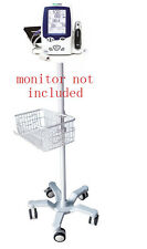 Rolling Stand For Welch Allyn Lxi Spot Monitor New 301 Big Wheel