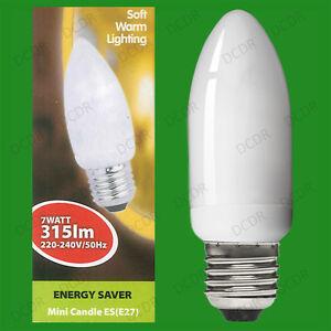 6x-7W-basse-consommation-economie-d-039-energie-LCF-Ampoule-type-bougie