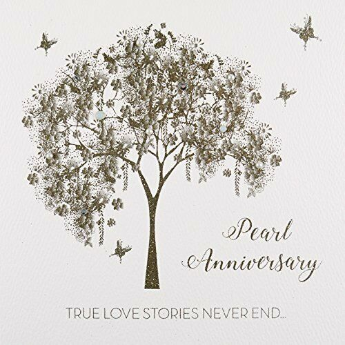 Pearl Anniversary #GS40 Handmade Greeting Card by Five Dollar Shake