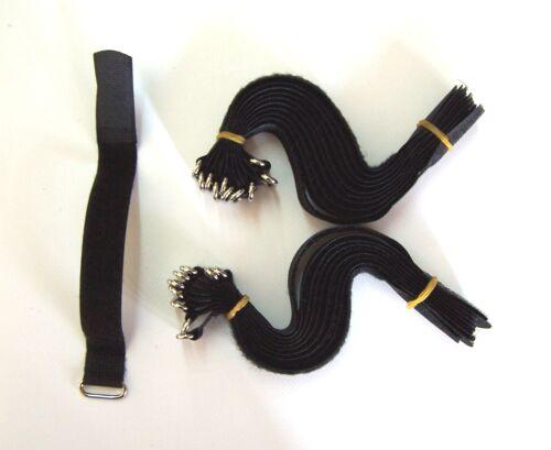 20 Stück Kabel Klettband 20 cm x 20 mm in schwarz  mit Metallöse Adam Hall