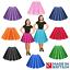 Ninas-Nino-1950s-Rock-N-Roll-Lunares-Falda-Vestido-Elaborado-Disfraz-de-grasa-de-danza miniatura 1