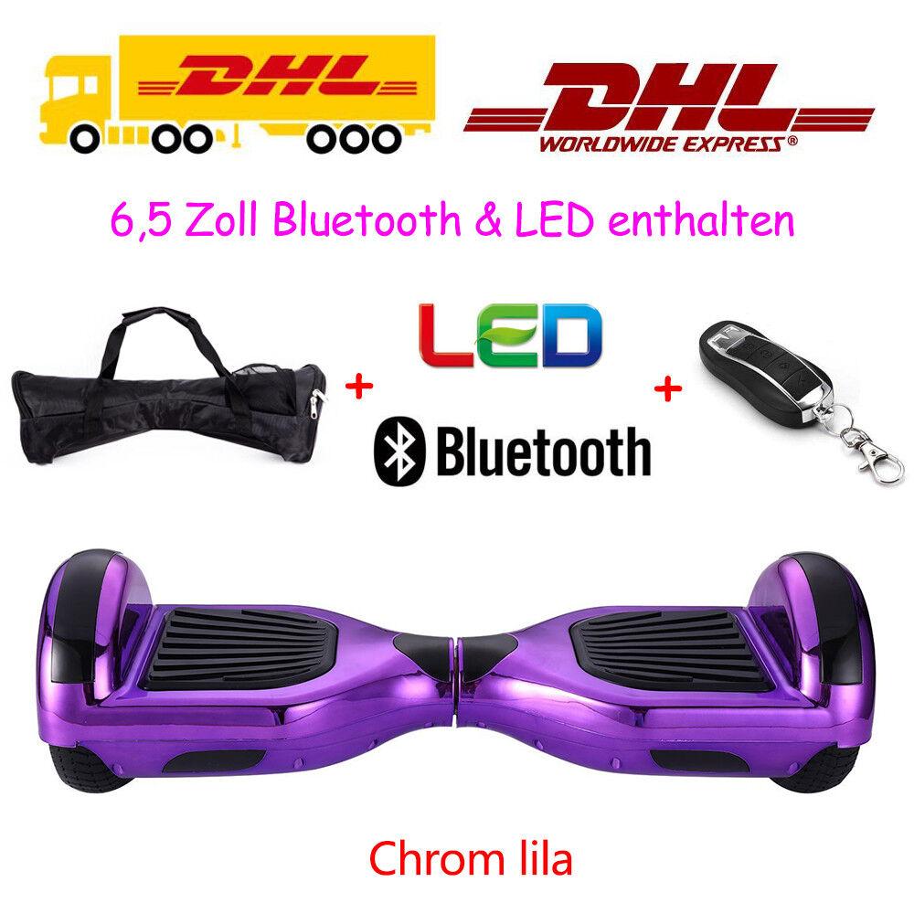 6.5 6.5 6.5 Zoll Smart Self E-Balance Elektro Scooter Blautooth Elektroroller Neu ca586b