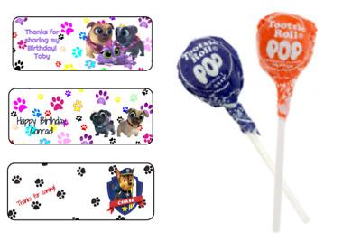 60 Flash Super Hero Sucker Lollipop Label Wrap Tag Birthday Party Favor