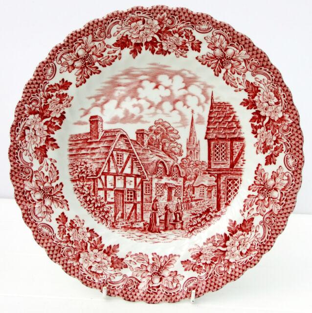 Vintage British Anchor Red White Dinner Plate Merrie Olde England