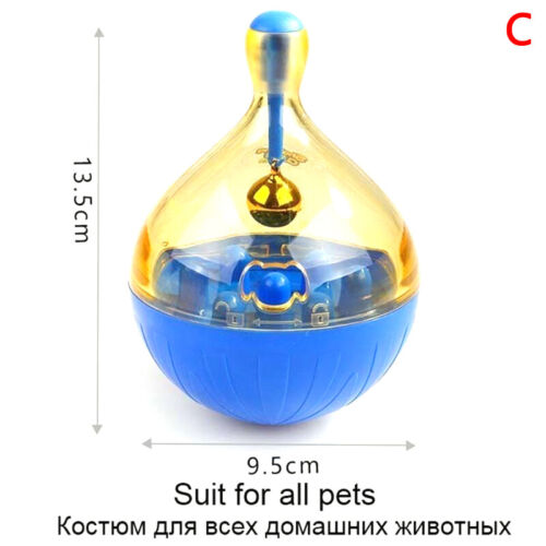 Pet Dog Fun Bowl Feeder Cat Feeding Toys Pets Tumbler Leakage Food Ball ~GN