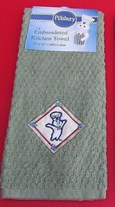 Nwt 2005 Pillsbury Doughboy Poppin Fresh Olive Green Embroidered