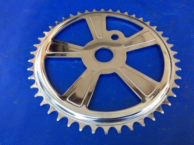 "NICE Vintage 1960s Schwinn 7 1/2"" Chrome Mag 46T Sprocket Chain Ring 6331"
