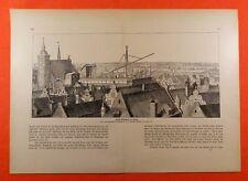 Hevels Sternwarte zu Danzig Gdańsk  Ansicht 1673  DRUCK von 1903