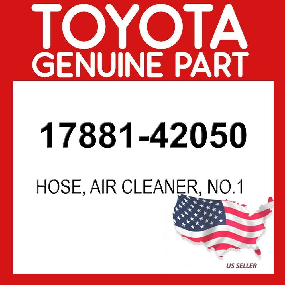 1788142050 Genuine Toyota HOSE AIR CLEANER NO.1 17881-42050