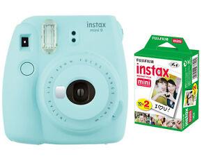 Fujifilm instax mini 9 Instant Film (Polaroid) Camera, Ice Blue + ...