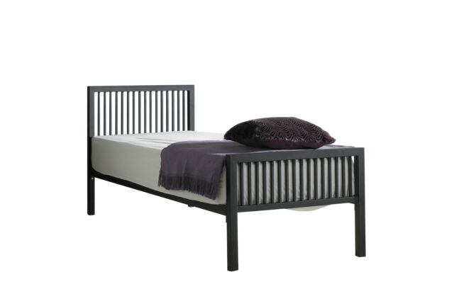 Boston Small Single 2ft6 Metal Bed Frame Black Ebay