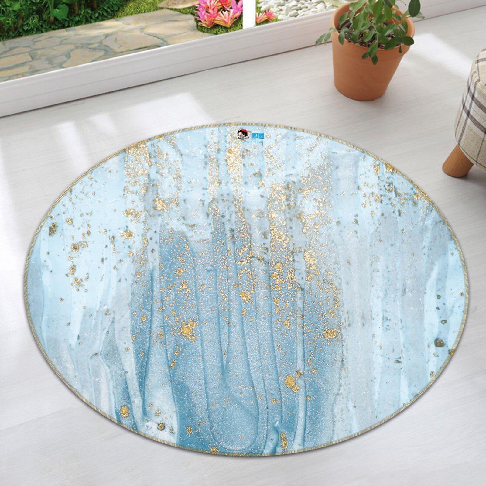 3D Golden Golden Golden Blau Ink 9 Non Slip Rug Room Mat Round Quality elegant photo carpet AU 2a9ff2