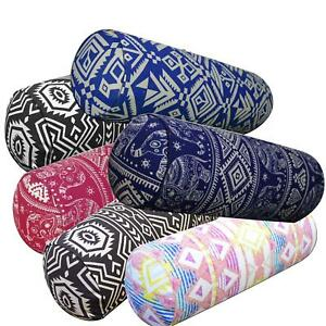 aa Cotton Canvas Bolster Cushion COVER Yoga Neck Roll Long Tube CASE Custom Size