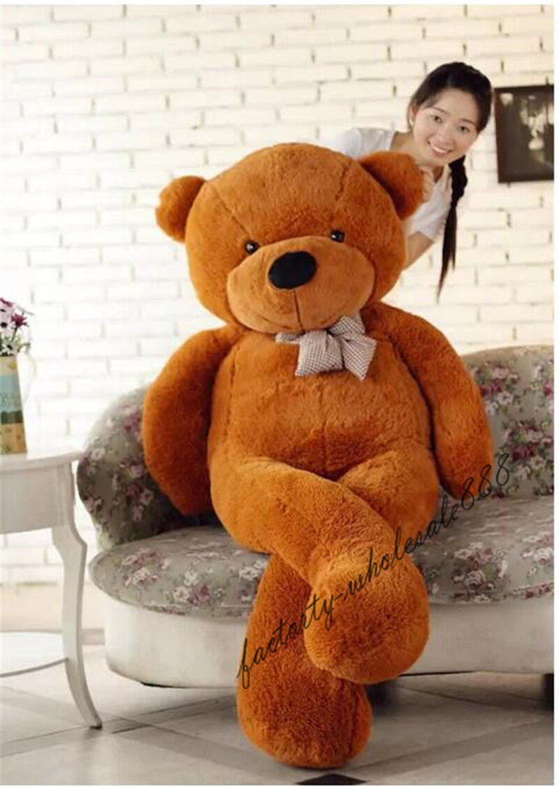 Big Dark marrone Teddy Bear Plush 72in. Giant Soft Toy Birthday Cushion Gift 180cm