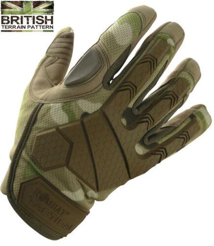 Alpha Tactical BTP Camo Army Gloves Hardshell Knuckle Micro Fibre Palm Shooting