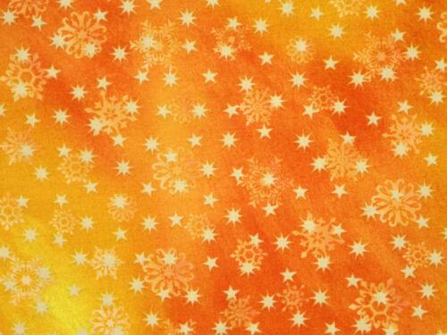 LOVE /& PEACE  CHRISTMAS FABRIC HOLIDAY  STARS SNOWFLAKES QT 100/% COTTON  YARDAGE