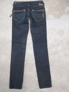 a655be30 Diesel Clush Skinny Jeans Womens Sz 26 Italy Stretch Dark Overdye ...
