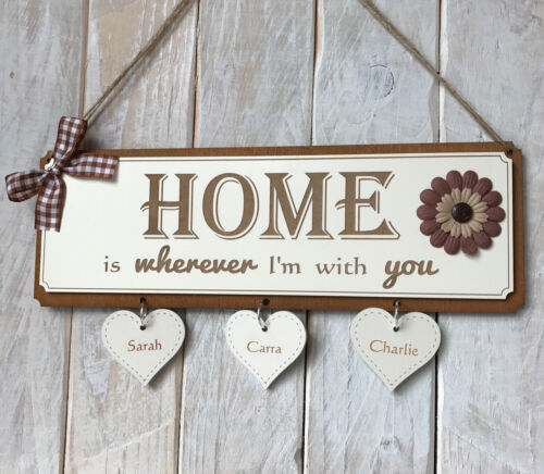 Engraved Personalised Gift Sign House Warming Gift Home is wherever im with you