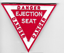 [Patch] DANGER EJECTION SEAT 9X8 cm toppa ricamata ricamo REPLICA -480