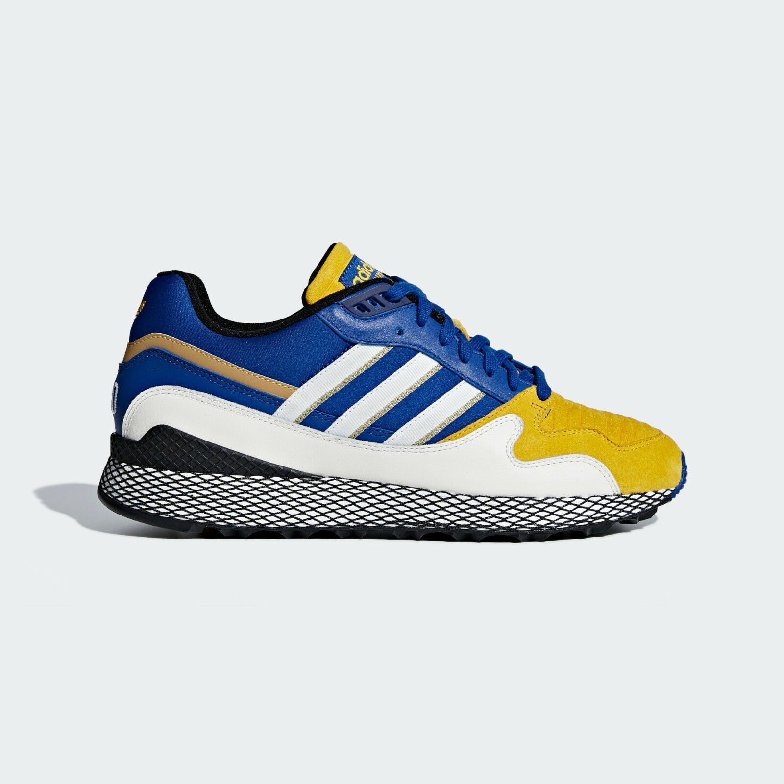 Adidas Ultra Tech Dragon Ball Z Size US 9.5 Vegeta Royal bluee Yellow gold D97054
