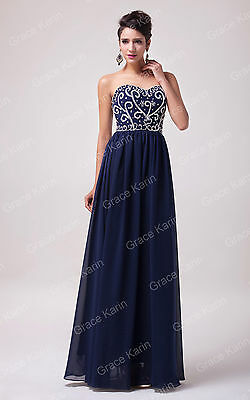 SEXY Maxi Formal Party Bridesmaid Cocktail Evening Homecoming Prom Dresses 6-20