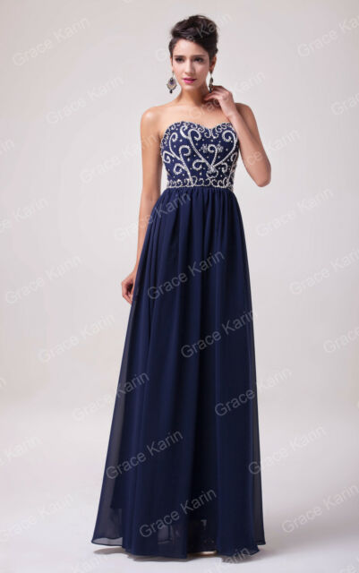 UK Strapless Long/Short Formal Evening Ball Gown Party Prom Bridesmaid Dress Hot