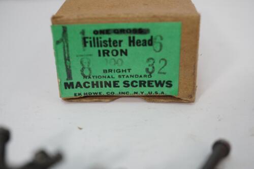 "200 NOS USA Made #6-32 x 1-1//8/""  Slotted Iron Fillister Head Machine Screws"