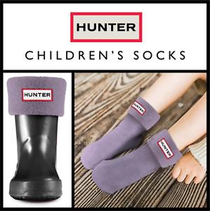S HUNTER KIDS BOOT SOCKS IN DUSTY LAVENDER UK 7-9 EU 24-27