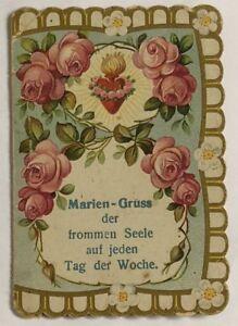 Maria-Enzersdorf-Wallfahrt-Estampa-Oracion-Schemm-Nurenberg-Koloriert-O-9887