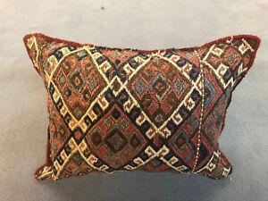 Aus Dem Ausland Importiert Vintage Kelim Kissen Antik Perser Teppich / Flachgewebe 40x60 Cm Mangelware
