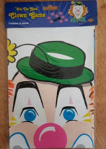 Pin de la nariz en la Payaso Circo Navidad Navidad Fiesta Juego para Niños 12 jugadores