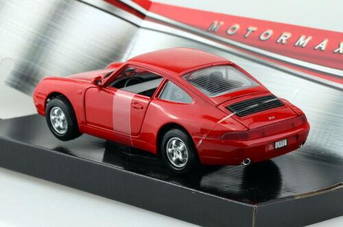 PORSCHE 911 993 Rosso 1:24 MOTOR MAX MODELLO DI AUTO 73220