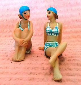 SEASIDE-STATUE-BEACH-OCEAN-FIGURINES-OLD-FASHIONED-LADIES-IN-BATHERS-set-2