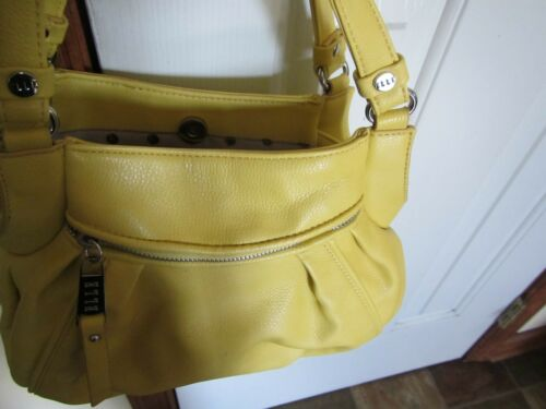 ELLE YELLOW SUMMER Shoulder BAG 4 zipper compartments Back/&Front/&Inside